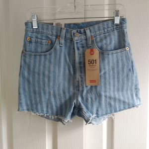 Nwt Womens Levis 501 High Rise Denim Shorts